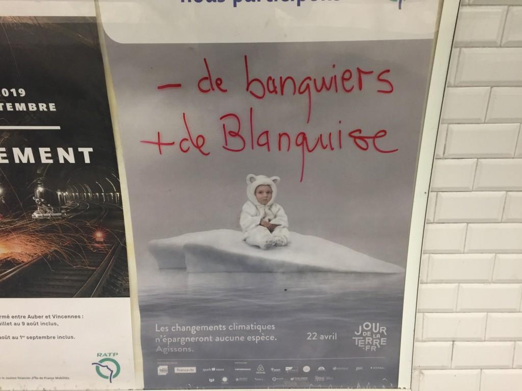 Paris métro  avril 2019